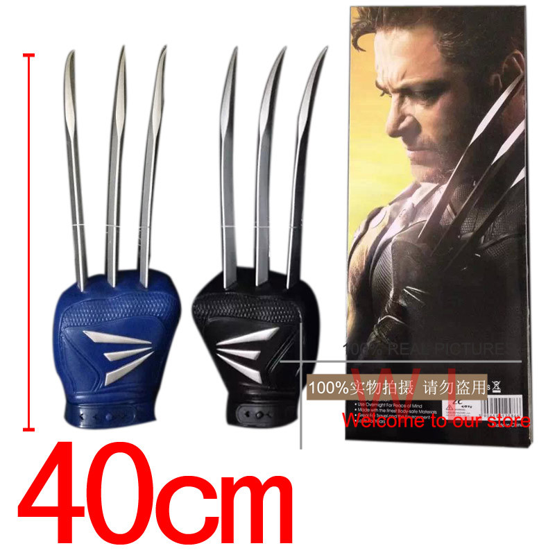 Hot Movie X-MEN The Wolverine Claws Wolf Paw Gloves PVC Figure Cosplay Toys Super Hero Marvel Cosplay Weapons Toy Gift In Box<br><br>Aliexpress
