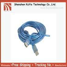 KUYiA 2PCS/LOT Free Shipping Track NO. 5M Good Quality USB Cable A Male to A Female USB Extension Cable 5M 15ft Blue