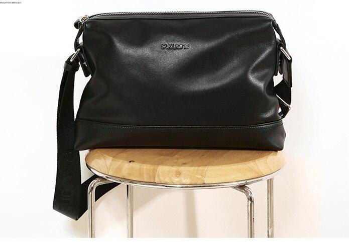 Business Men s Bag Shoulder Bag Men s Messenger Bag Leather Genuine Leather Men s Leather Bag Briefcase<br>