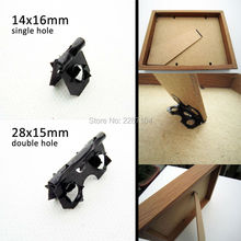 50X Fix Connect Painting Picture Photo Artwork Frame Back Board Backboard Support Standoff Stand Leg Feet Barbed Hinge No screw