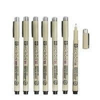 7 pcs/Lot Sakura Pigma Micron needle for drawing sketch cartoon archival ink gel pen Stationery Animation Art supplies 6922