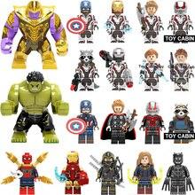 Super Heroes lEGOED Marvel Avengers Endgame Iron Man Thanos Thor War Machine spiderman Captain America Hulk Building Blocks toy(China)