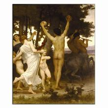 Classic 1 Pcs Nude Painting Prints On Canvas Harvest Orchestra Celebrate in Forest Living Room Wall Art