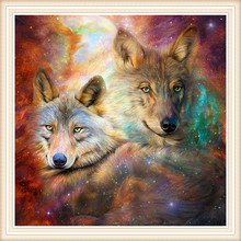 2017 hot sale diamond embroidery Wolves home decoration europe style sets for embroidery stitch handmade paintings