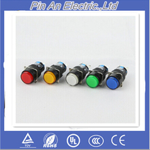 16mm DC 12V LED Push Button Switch Blue Green Red Yellow White lamp Fixed Pushbutton Switches Latching Push On Start