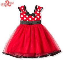Summer Baby Girl Party Frock Red 1st Birthday Tutu Twirly Dresses For Girls Kids Clothes Baby Dresses Girl Christmas Costume