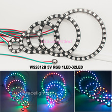 WS2812 5050 RGB LED 1 8 12 16 24 32 Bits Ring Lamp Light with Integrated Driver