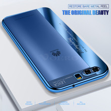 VOERO Electroplated Transparent Case For Huawei P10 Plus Mate 10 9 Pro Full Cover Soft TPU Cases For Honor 8 9 8 Lite V10 Case(China)