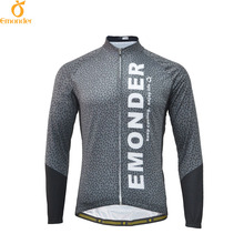 EMONDER Pro Custom Men Cycling Jersey Long Sleeve Autumn Outdoor Sports Bike Clothes Breathable Quick Dry Maillot Ropa Ciclismo
