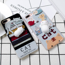 Buy Funny Cute Cat Squishy Phone Case iphone 6S Cases 6 plus Squishy Soft Housing Case blando Cover Iphone 7 Case 7 Plus for $2.68 in AliExpress store