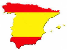 Spanish flag colors sticker ,Creative spain map shape vinilos decal car stickers(China)