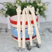 Syringe Pen Writing Supplies Bone shape ballpoint pens Wholesale New creative gift school supply F0014(China)