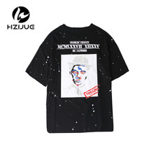 HZIJUE 2017 summer high street fashion short sleeve tops hip hop clothes Original Design tees Personality classic brand t shirt