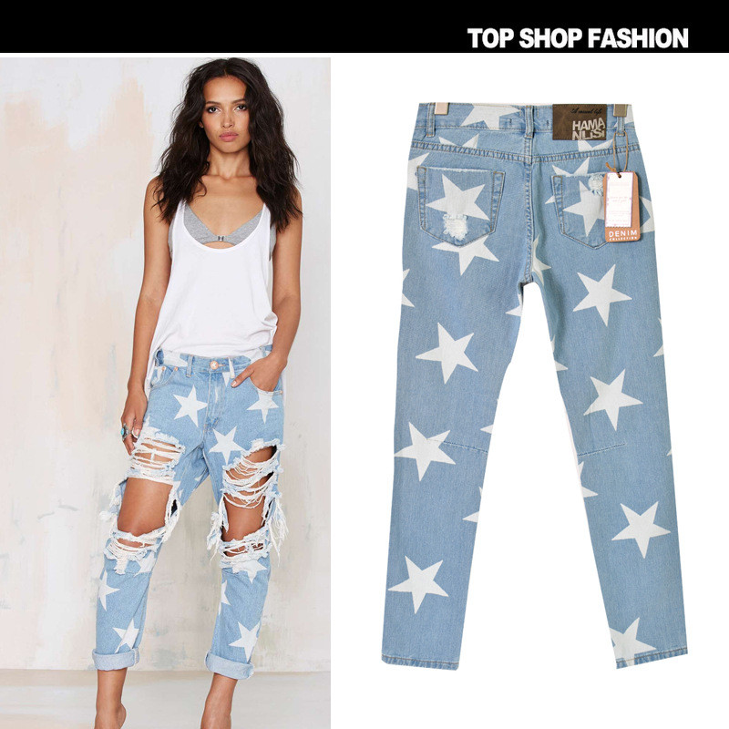 2017  Boyfriend Loose Ripped Jeans Fall Fashion Loose Ripped Denim Jeans For Woman Plus Size Harem Jeans For Ladies Big HoleОдежда и ак�е��уары<br><br><br>Aliexpress