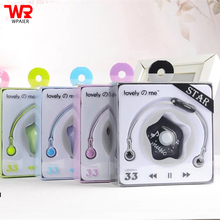 WPAIER KEEKA L33 Cartoon Student headphones fashion headset Noodle line Microphone with Star Storage box Universal