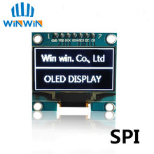 "1PCS 1.3"" OLED module white color SPI 128X64 1.3 inch OLED LCD LED Display Module 1.3"" SPI Communicate(China)"