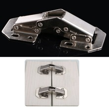 "90 Degree 3"" No-Drilling Cabinet Bridge Spring Frog Hinge Full Overlay Cupboard Furniture Hinges #C93U# Drop ship"