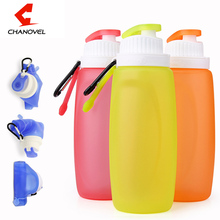 320ML Foldable Silicone Water Bottle Kettle White,Pink,Blue For Travel Outdoor Sport Camping Hiking Walking Running(China)