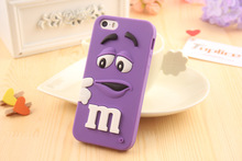 New Cartoon M&M's Chocolate Candy Rubber Mobile Phone Case For iPhone 6 6S 7 Plus Best Quality Soft Silicone Back Cover Fundas