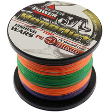 high quality super strong Multi-color Japan Pe Multifilament Braided Fishing Line 500M braided wire 4x wires rope fishing thread(China)