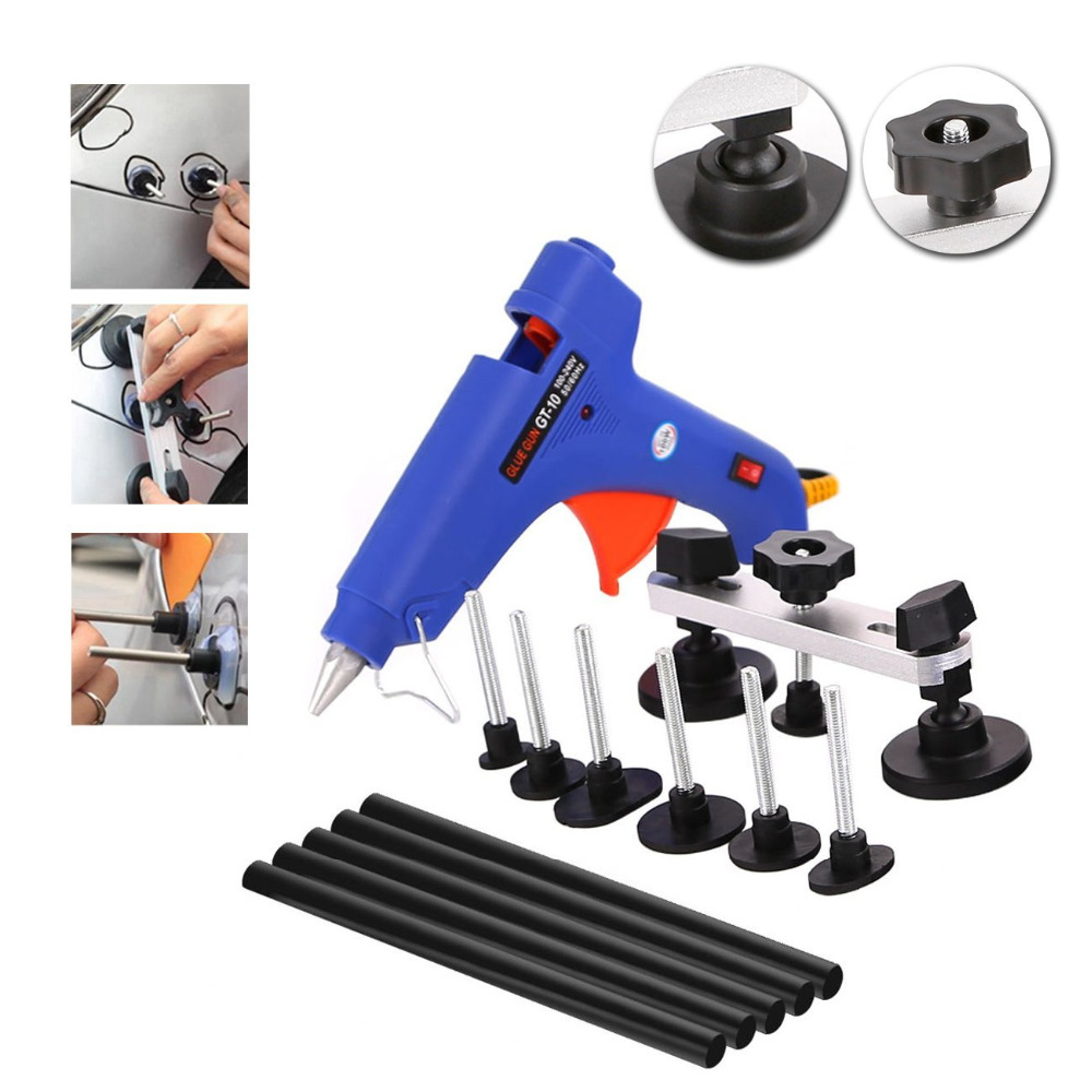 WHDZ Paintless Dent Repair Tool 65PCS Pdr Tool Kit Slider Hammer with Dent Lifter Bridge Puller Set LED Line Board Glue Puller (7)