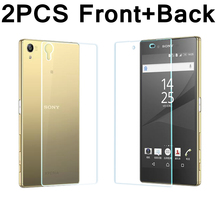 2PCS Front+Back 9H Premium Tempered Glass Cover For Sony Xperia Z Z1 Z2 Z3 Z4 Z5 Compact M4 M5 Aqua Dual Screen Protector Film