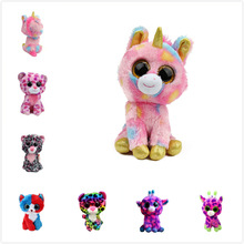 (A Toy A dream)2017 Hot Ty Beanie Boos Big Eyes Small Unicorn Plush Toy Doll Kawaii Stuffed Animals Collection Children's Gifts(China)
