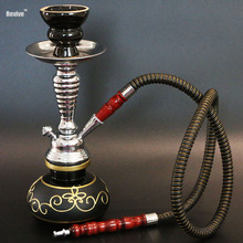Revive color hose options glass narguile hookah set black golden blue red green shisha smoking water pipe chicha nargile