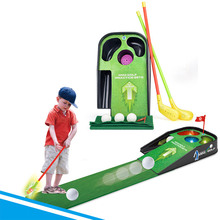Kids Mini golf practice sets flash sounding vibration golf ball toy child sport Golf clubs carpet ball set kids baby best gift