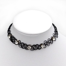 Europe and the United States to sell hot fashion star models Harajuku original shiny zircon black fishing line necklace