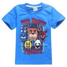 2017 Summer Kids Clothes 3D Cartoon T-Shirts Five Nights At Freddy's Boys Girls Clothing Kids T Shirt 5 Freddys Tops lego cars