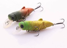 3.5g 45mm insect fishing lure locust hard lures