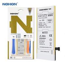 2017 Hot Sale Original NOHON Battery For iPhone 5 5G Batterij Li-ion Internal Bateria 1590mAh Real Capacity Batarya Free Tools(China)