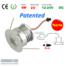 12V/24V DC safety voltage easy to install and extremely small tiny design led downlight 4w SHARP light source