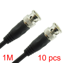 10x 1M/3.28FT BNC Male to BNC Male Connector RG59 Coaxial Cable For CCTV Camera