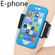 for Iphone 5 5S SE 6 6s 7 Plus Running Riding Arm Band Jogging Gym Rubber Case Sports Bag Cover Reflective Night Soft Brand New(China)