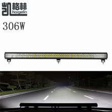 1PCS 306W 102 X3W LED Bar As Work Flood Spot Light Offroad Car for Boating Hunting Fishing 12-24V Car-styling