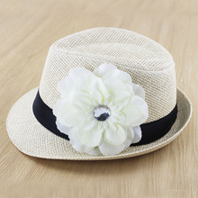 New Hot Sale Baby Fedora Hat Children Girl Cap Kids Straw Sun Hat Jazz Cowboy Cap Fashion Baby Gift FH030