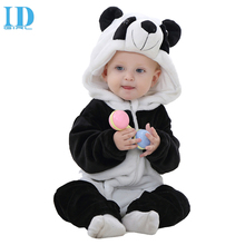 IDGIRL Spring Autumn Baby Clothes Flannel Baby Boys Clothes Cartoon Animal Jumpsuits Infant Girls Rompers Baby Clothing XYZ15088