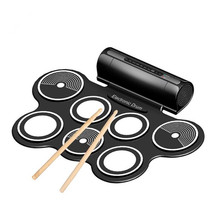 Silicone Electronic Drum Pad Kit Portable Digital USB MIDI Roll-up with Drumstick Foot Pedal Foldable Percussion Instruments(China)