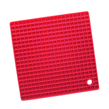 7-inch Silicone Pot Holder, Trivet Mat,jar Opener,spoon Rest Non Slip, Flexible, Durable, Heat Resistant Hot Pads(red)