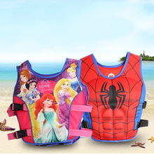 Kids Life Jacket Floating Vest Boy Superman Swimsuit Sunscreen Floating Power swimming pool accessories ring