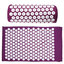 Yoga Mat Massager Massage cushion Acupressure Mat Relieve Stress Pain Acupuncture Spike Yoga Mat pin pad/yoga mat(China)