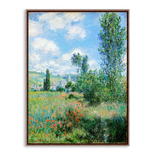 Modern Impressionism Claude Monet Cottage Floral Field Landscape A4 Art Print Poster Wall Picture Canvas Oil Painting Home Decor