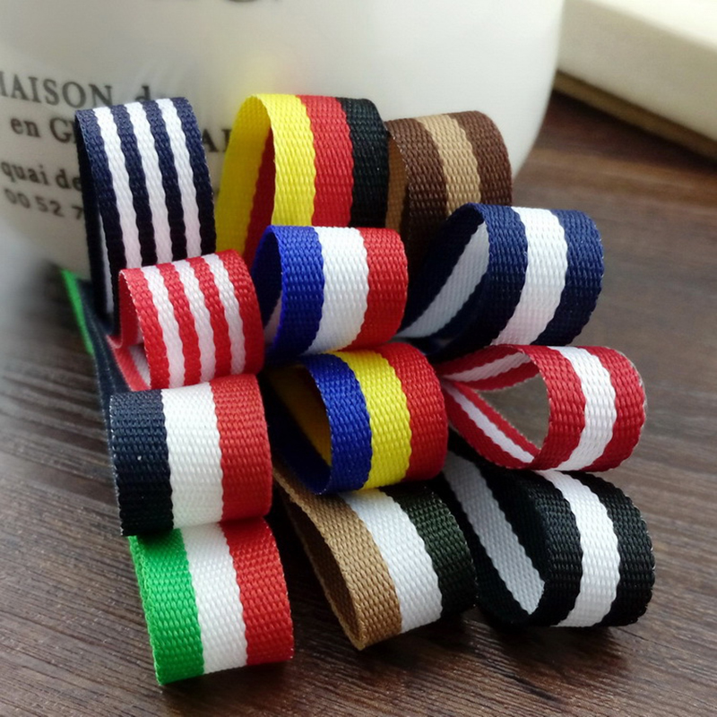 """12 colours 5meter/lot 3/8""""(11 mm) Flag pattern Striped ribbons Computer embroidery ribbon saten ribbon T-030"""