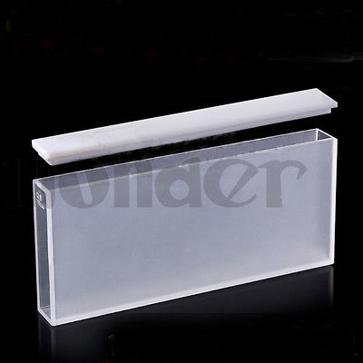 100mm JGS1 Quartz Cuvette Cell With Telfon Lid For Uv Spectrophotometers<br>