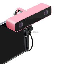 Dual lens 3D Video VR Camera Virtual Reality 90*22*20mm mini Pink Aluminum Housing for Android phone Samsung GALAXY S5/S6/S7 etc(China)