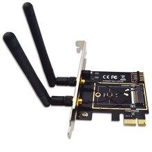 M.2 NGFF Key A+E Mini PCI-E Wireless Adapter WiFi Bluetooth Network Card Converter PCI-Express 1X M2 NGFF Support 2230 2242
