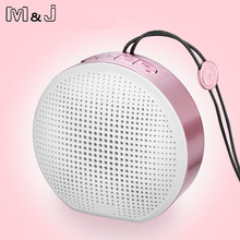 M&J Y100 Stereo Portable Wireless Bluetooth Speaker Mini Subwoofer Speaker With Mic Support TF Card AUX For IPhone Android PC(China)