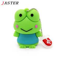 JASTER fashion animal cute  Frog USB Flash Drive animal pen drive gift hot sale cartoon pendrive 4GB/8GB/16GB USB 2.0 Wholesale